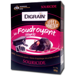 Pâte anti souris à effet foudroyant